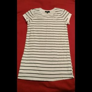 Size XS Lulu's white and black t-shirt dress